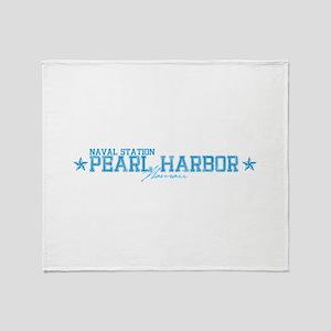 Naval Station Pearl Harbor Throw Blanket