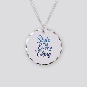 Style is Everything Necklace Circle Charm