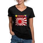 Kyokujitsu-z Women's V-Neck Dark T-Shirt
