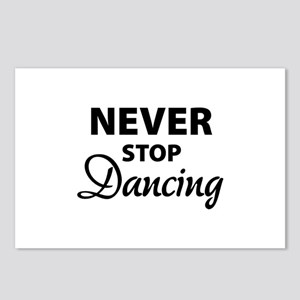 Never stop Dancing Postcards (Package of 8)