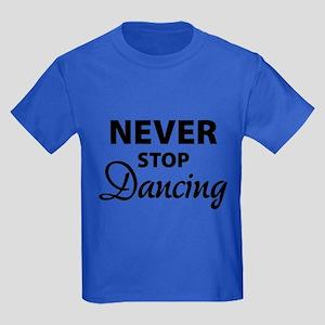 Never stop Dancing Kids Dark T-Shirt
