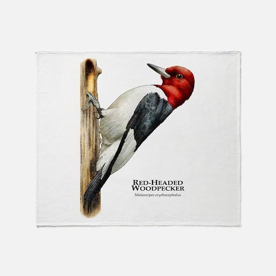 Red-Headed Woodpecker Throw Blanket