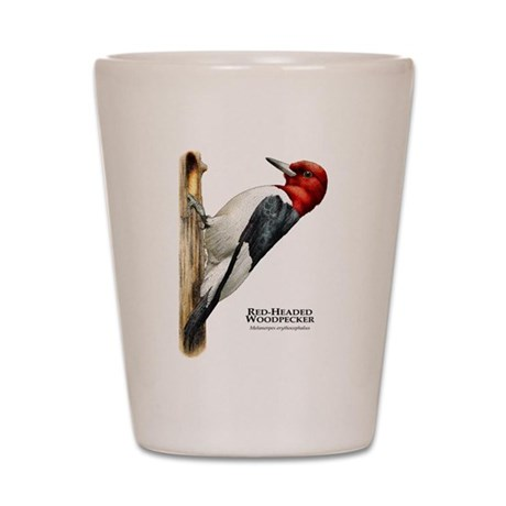Red-Headed Woodpecker Shot Glass