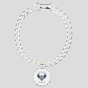 Heart-MacKenzie dress Charm Bracelet, One Charm