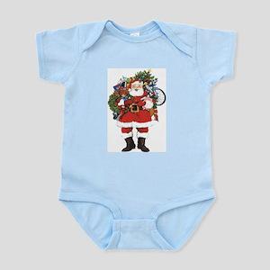Santa with Sack On Back Infant Bodysuit