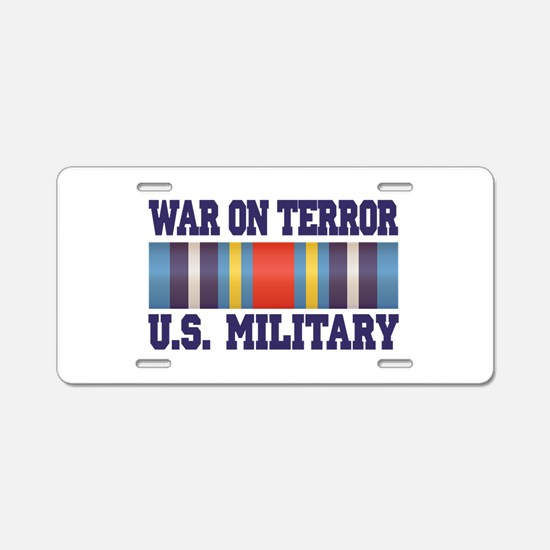 War On Terror Aluminum License Plate