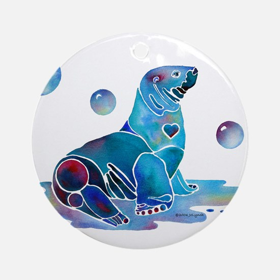 Salty Seal Ornament (Round)