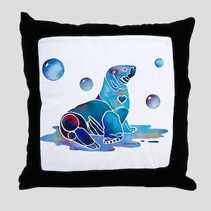 Salty Seal Throw Pillow