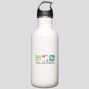 Peace, Love, Dobermans Stainless Water Bottle 1.0L