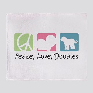Peace, Love, Doodles Throw Blanket