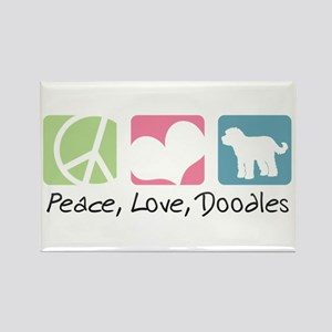 Peace, Love, Doodles Rectangle Magnet