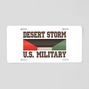 Desert Storm Aluminum License Plate