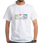 Peace, Love, Goldens White T-Shirt