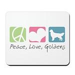 Peace, Love, Goldens Mousepad