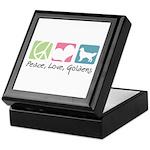Peace, Love, Goldens Keepsake Box