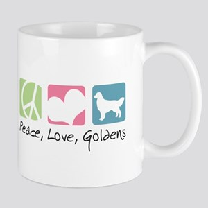 Peace, Love, Goldens Mug