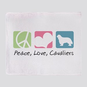 Peace, Love, Cavaliers Throw Blanket