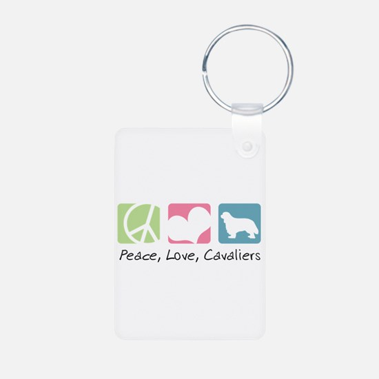 Peace, Love, Cavaliers Keychains