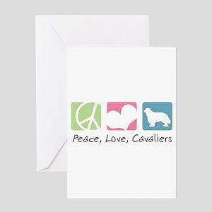 Peace, Love, Cavaliers Greeting Card
