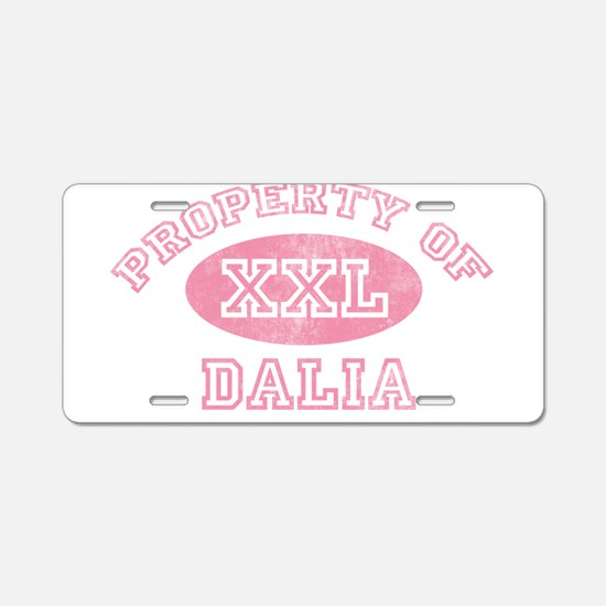 Property of Dalia Aluminum License Plate