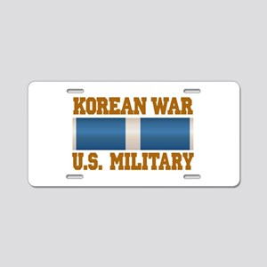 Korean War Aluminum License Plate