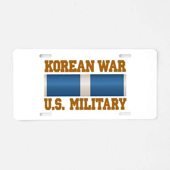 Korean War Aluminum License Plate