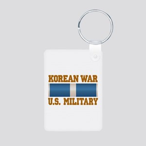Korean War Aluminum Photo Keychain