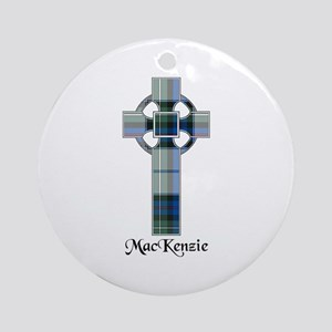 Cross-MacKenzie dress Round Ornament