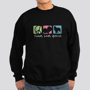 Peace, Love, Aussies Sweatshirt (dark)