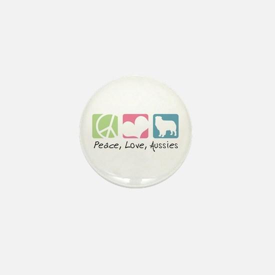Peace, Love, Aussies Mini Button