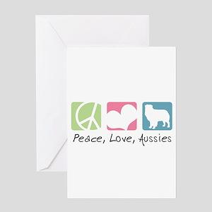 Peace, Love, Aussies Greeting Card
