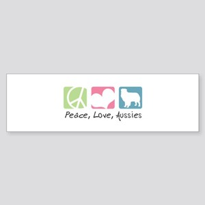 Peace, Love, Aussies Sticker (Bumper)