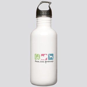 Peace, Love, Greyhounds Stainless Water Bottle 1.0