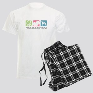 Peace, Love, Greyhounds Men's Light Pajamas