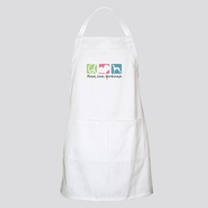 Peace, Love, Greyhounds Apron