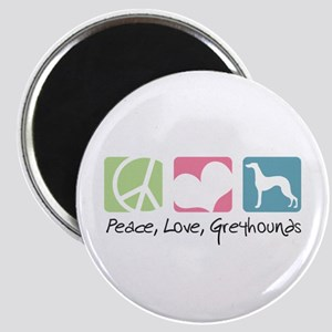 Peace, Love, Greyhounds Magnet