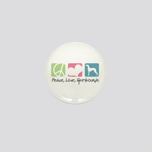 Peace, Love, Greyhounds Mini Button