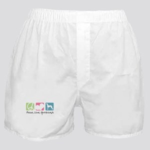 Peace, Love, Greyhounds Boxer Shorts