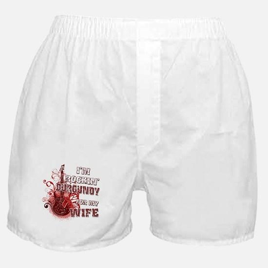 I'm Rockin' Burgundy for my W Boxer Shorts
