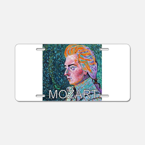 Mozart in a Whirl Aluminum License Plate