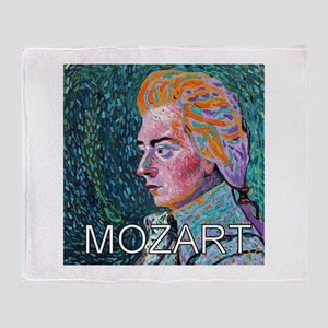 Mozart in a Whirl Throw Blanket