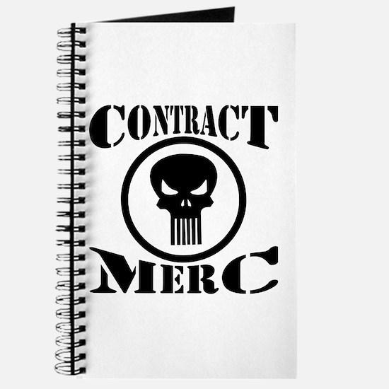 Contract Merc Skull Journal