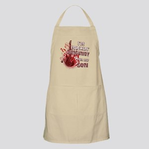 I'm Rockin' Burgundy for my S Apron