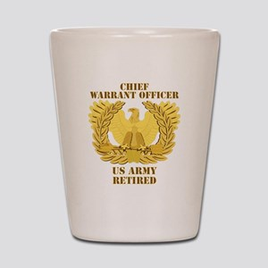 Army - Emblem - CWO Retired Shot Glass