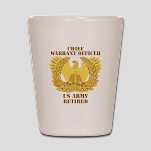 Army - Emblem - CWO Retired Shot Glass