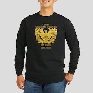 Army - Emblem - CWO Retired Long Sleeve Dark T-Shi