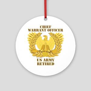 Army - Emblem - CWO Retired Ornament (Round)