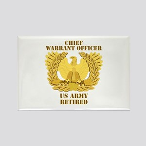 Army - Emblem - CWO Retired Rectangle Magnet