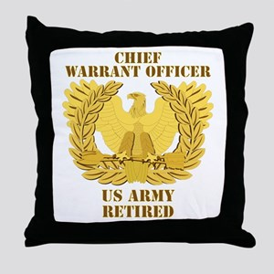 Army - Emblem - CWO Retired Throw Pillow