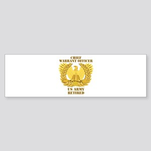 Army - Emblem - CWO Retired Sticker (Bumper)